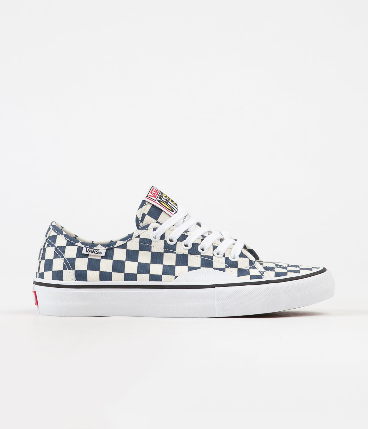 Vans AV Classic Pro Checkerboard Shoes - Dark Denim