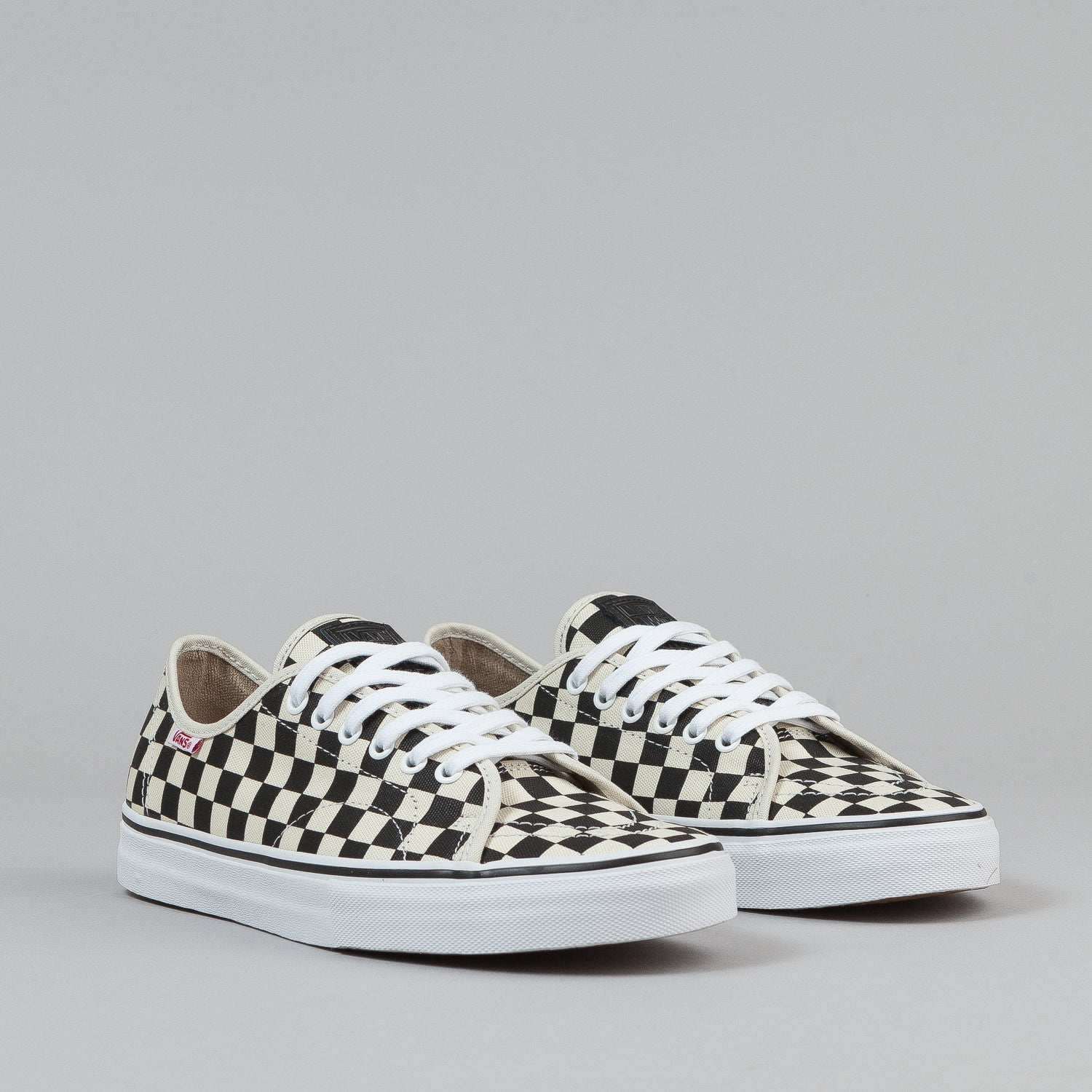 Vans AV Classic Shoes - (Checkers) Black / White