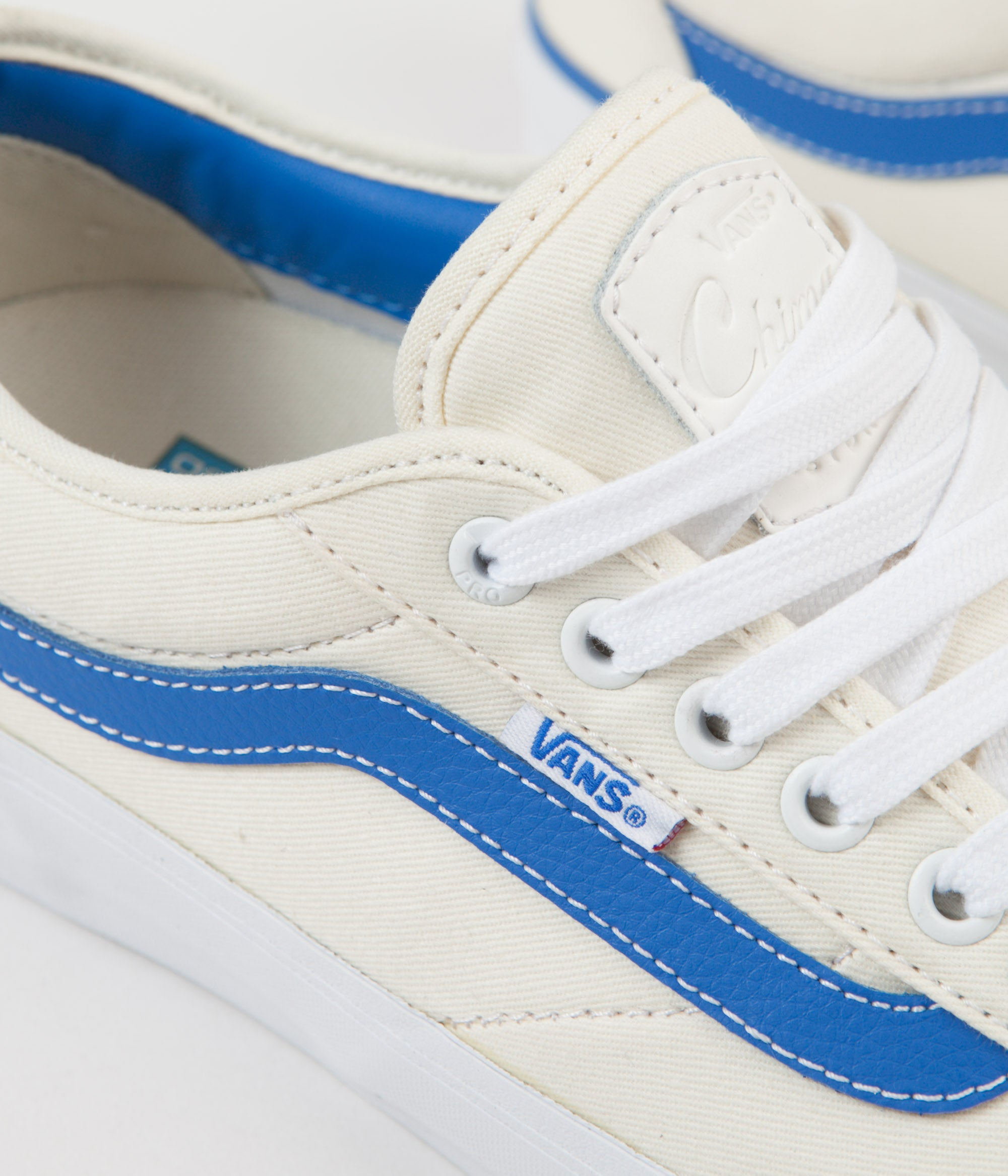... Vans Chima Pro Centre Court Shoes - Classic White   Victoria Blue ... 7895b6888