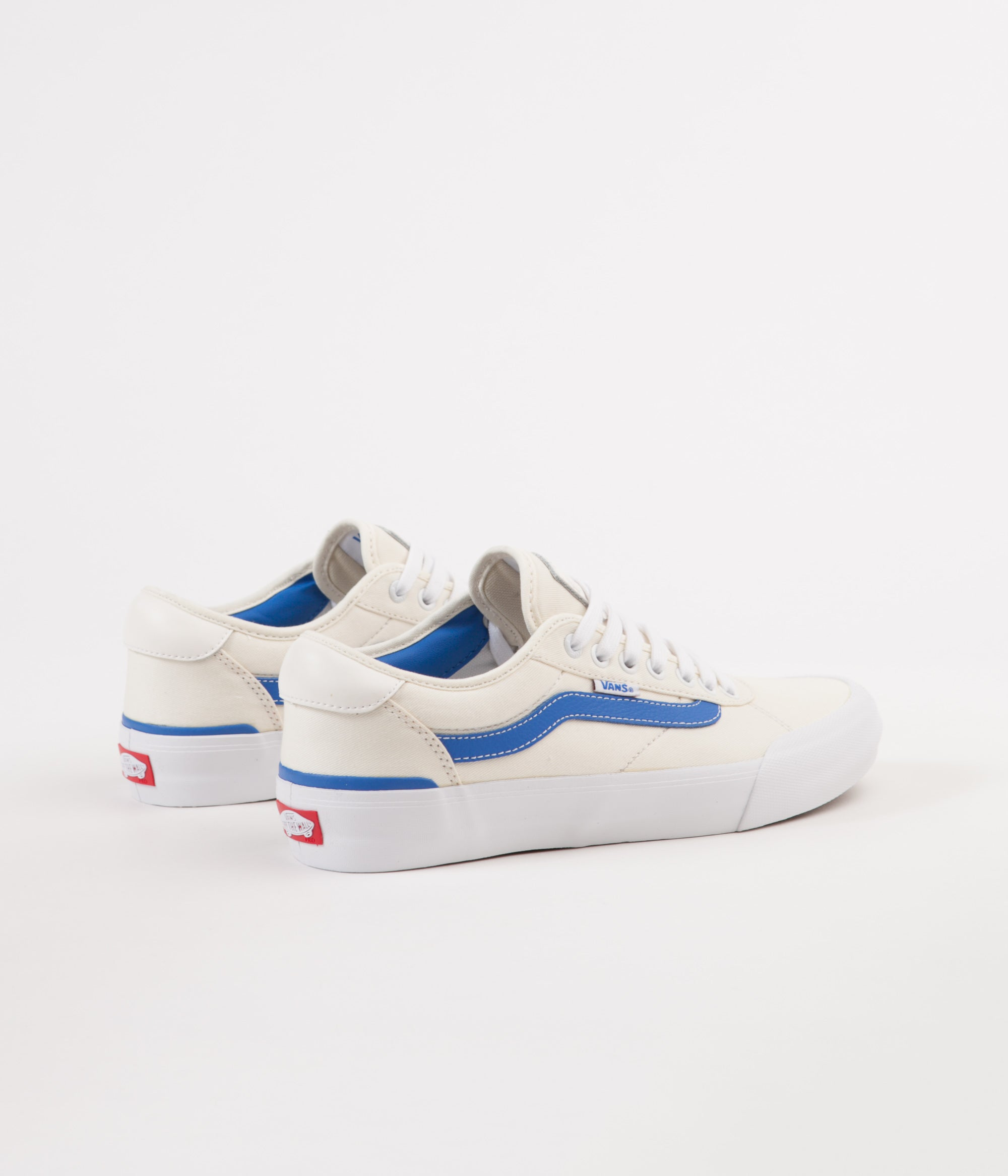 ad2ca87d224b19 ... Vans Chima Pro Centre Court Shoes - Classic White   Victoria Blue ...