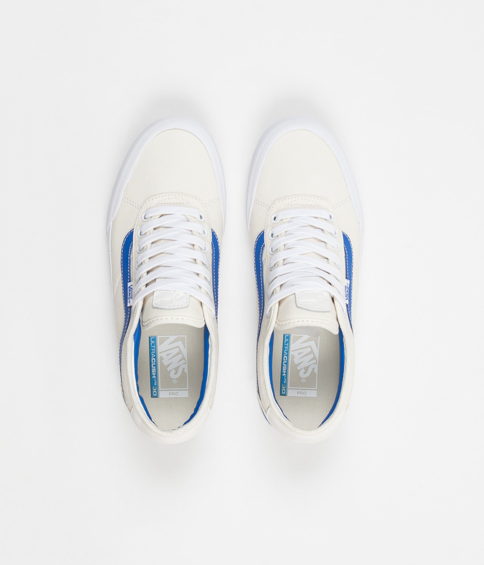 08758801728e70 Vans Chima Pro Centre Court Shoes - Classic White   Victoria Blue ...
