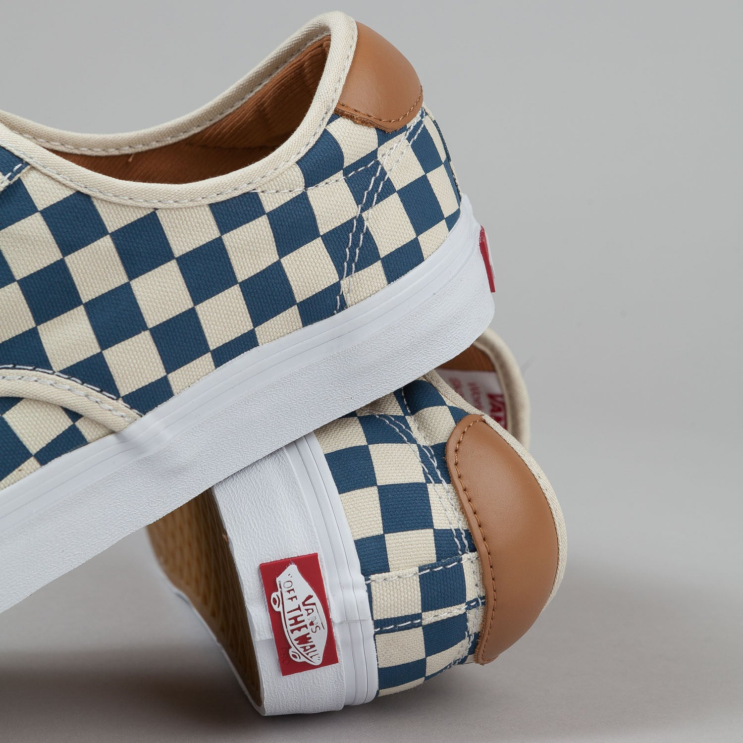 Vans Chima Ferguson Pro Shoes - (Checkerboard) Tan / Blue
