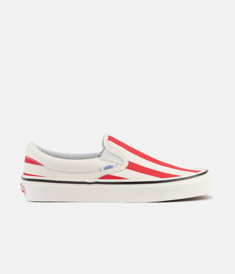 4d090a3c9e Vans Classic Slip-On 98 DX Anaheim Factory Shoes - OG White   OG Red