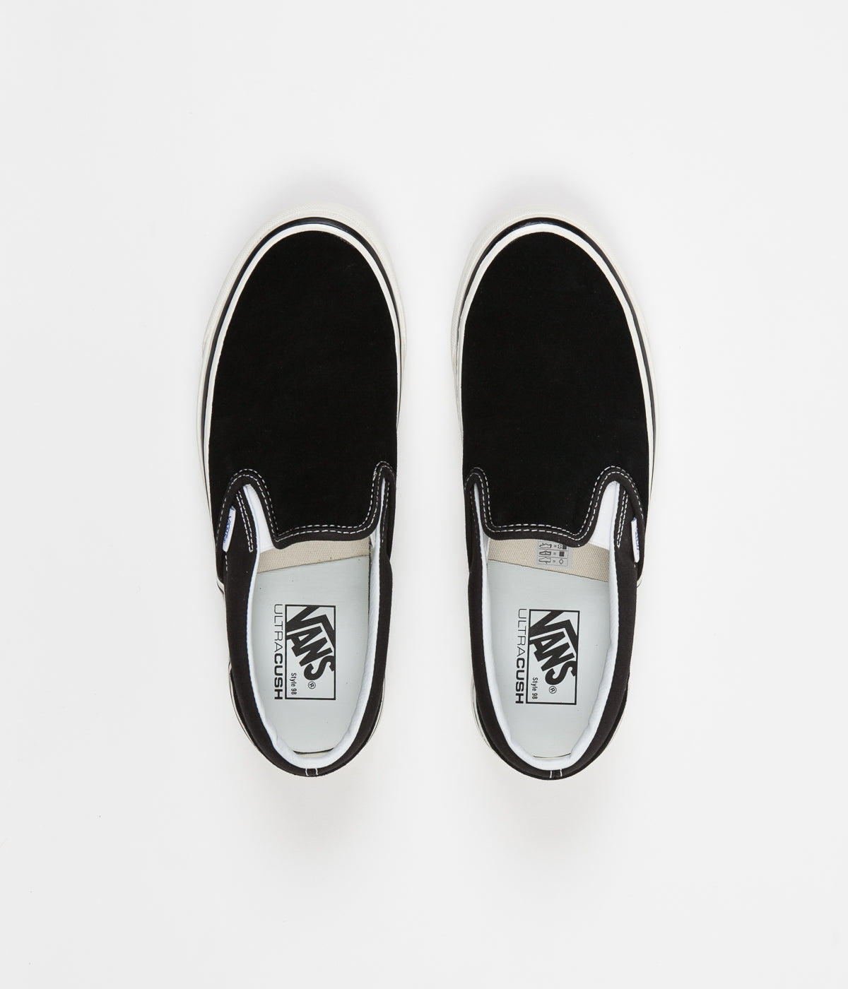 d01480b20c88 Vans Classic Slip On 98 DX Anaheim Factory Suede Shoes - OG Black ...