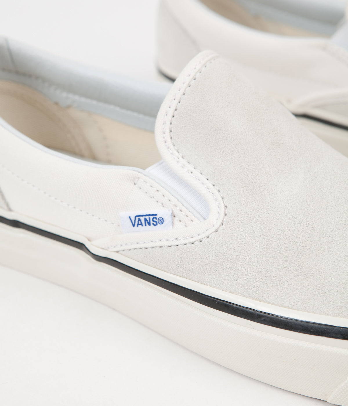 Vans Classic Slip On 98 DX Anaheim Factory Suede Shoes - OG White