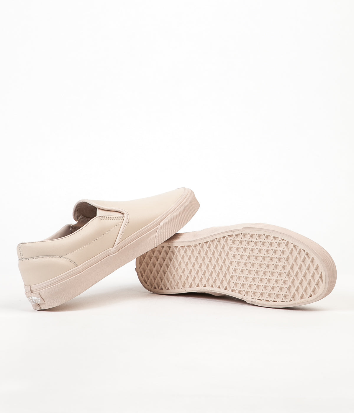 41a1abae2d Vans Classic Slip On Leather Shoes - Whisper Pink   Mono