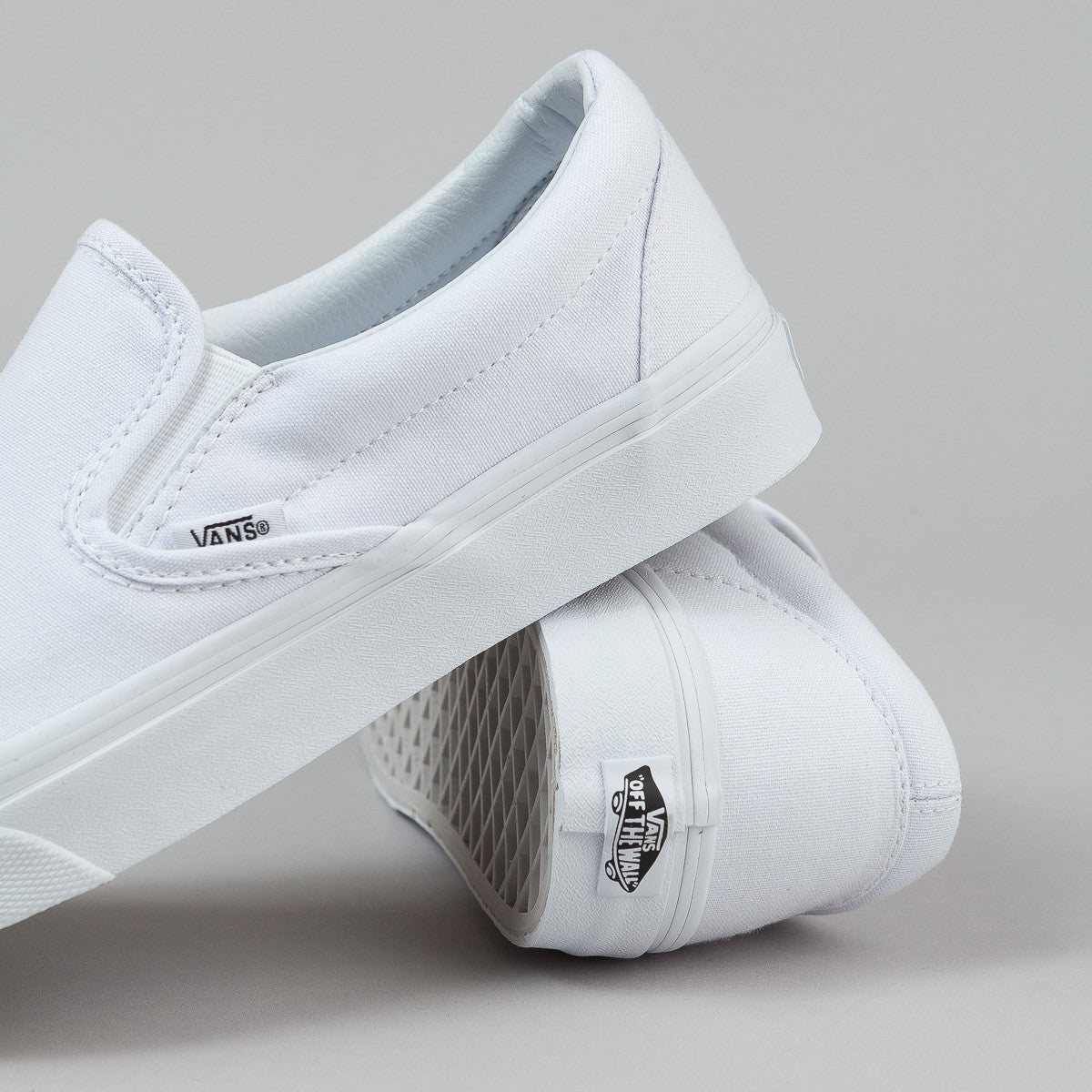Vans Classic Slip On Shoes - True White Canvas