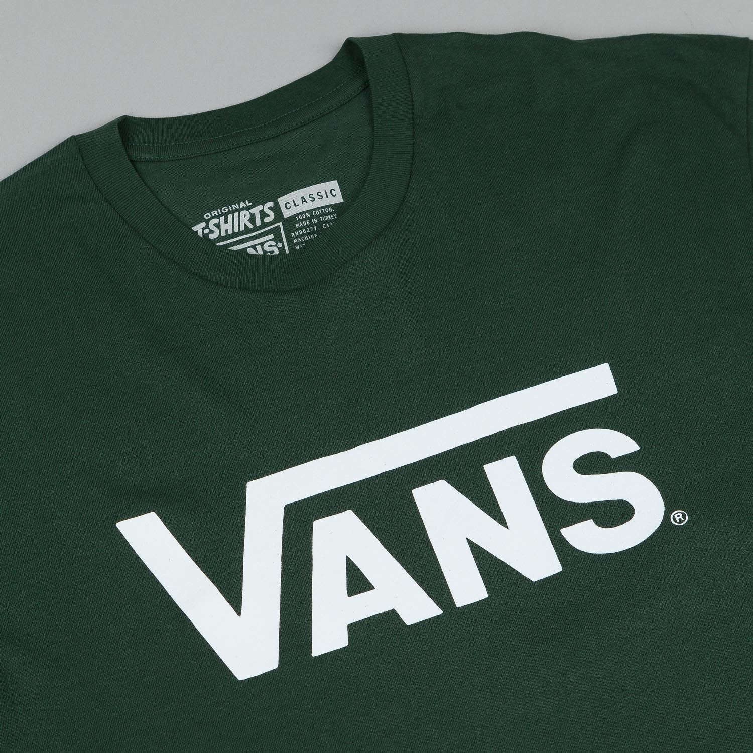 Vans Classic T-Shirt - Forest / White