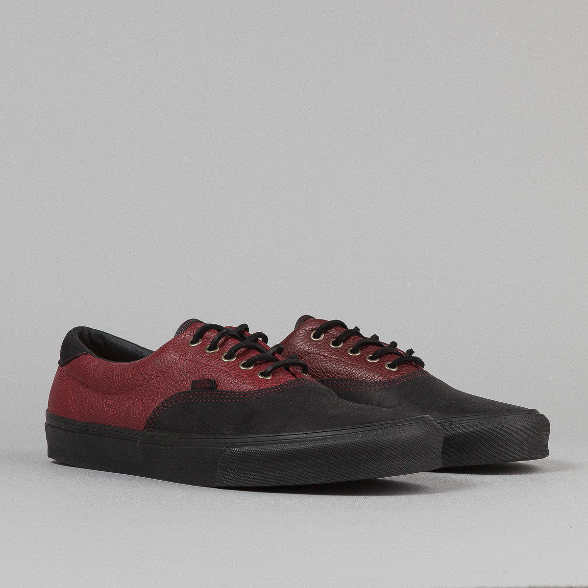 Vans Era 45 CA Shoes - (Leather) Black / Russet Brown