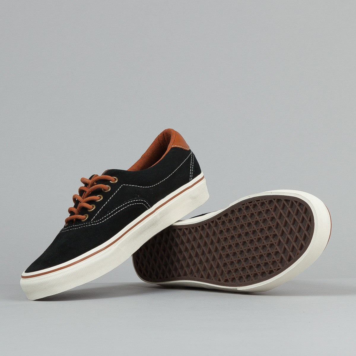 Vans Era 59 Shoes (Suede) - Black / Leather Brown