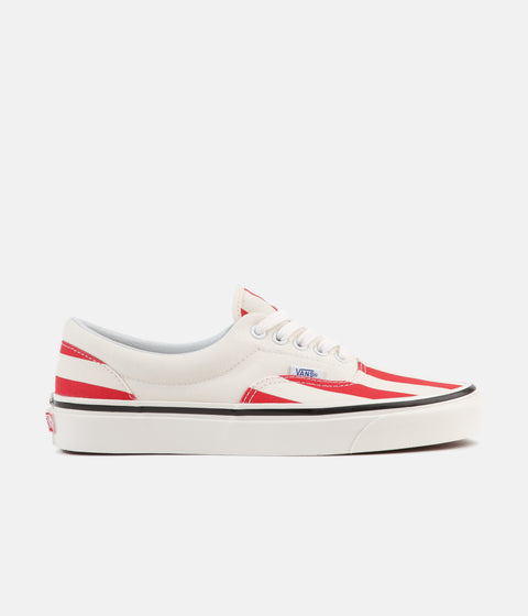 7b13892ca4 Vans Era 95 DX Anaheim Factory Shoes - OG White   OG Red   Big Stripes
