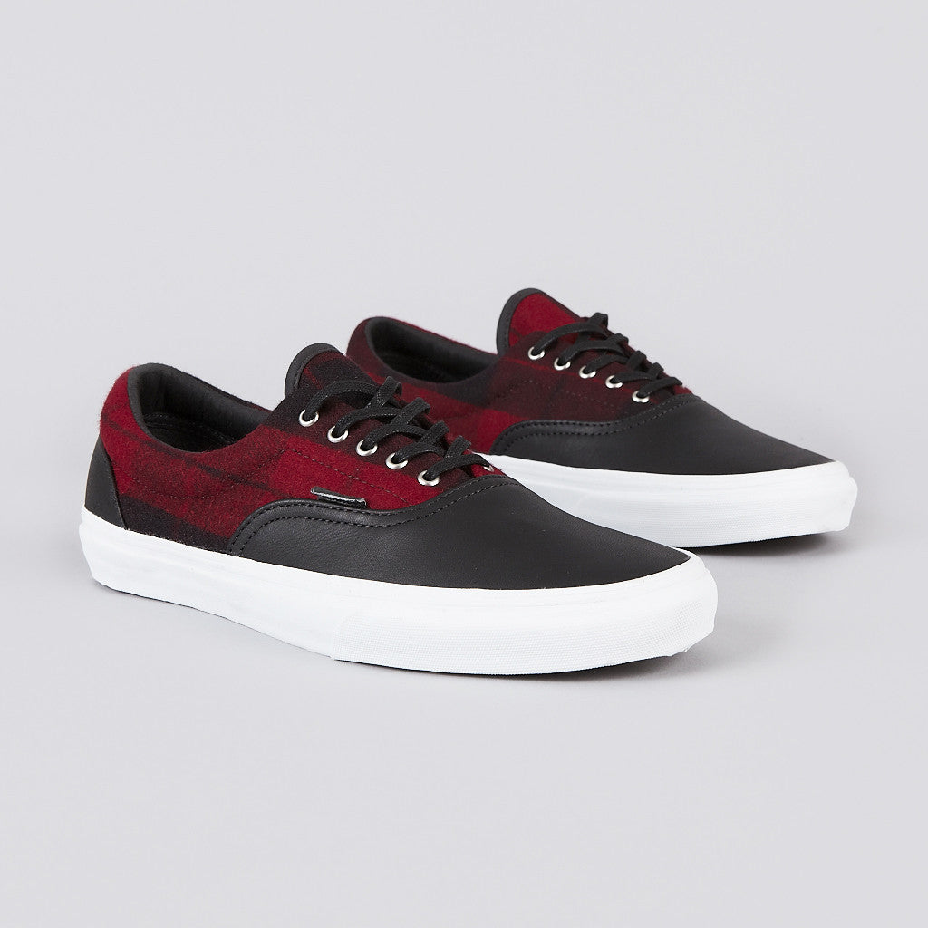 vans era ca flannel black