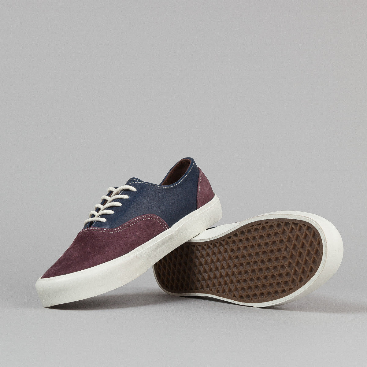 Vans Era Decon CA Shoes - (2 Tone) Winetasting / Dress Blues