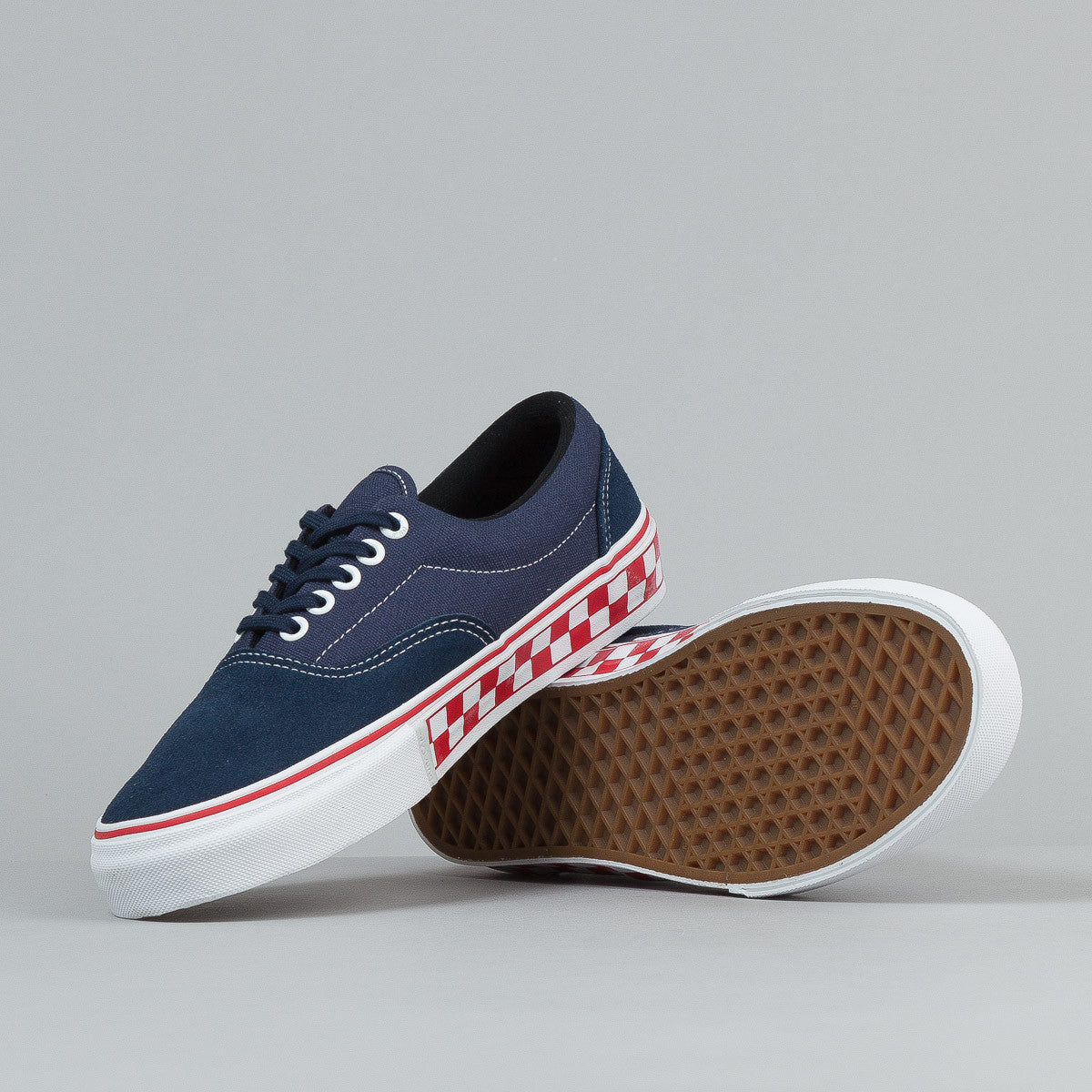 Vans Era Pro Shoes (Foxing Checkers) - Navy / Red