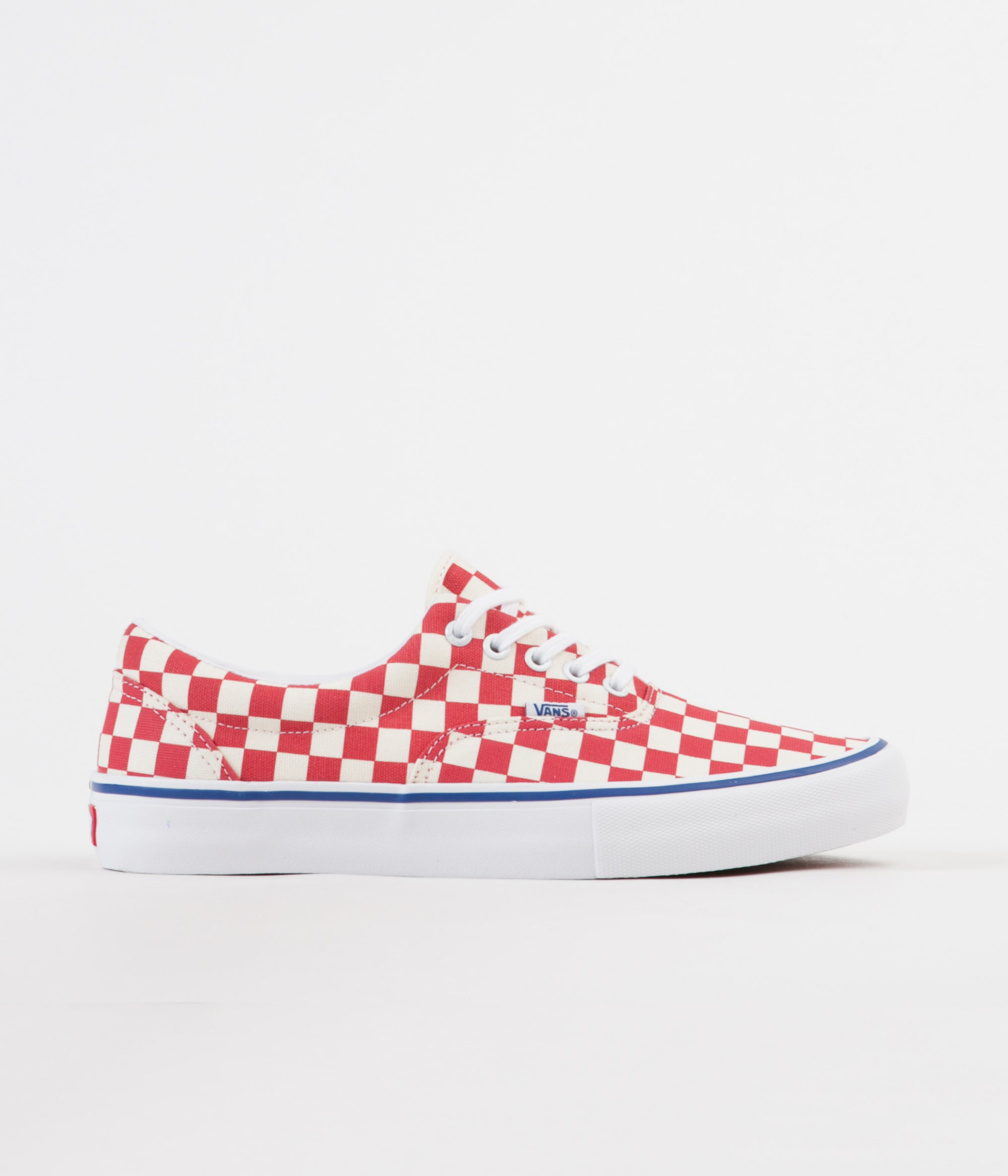 Vans Era Pro Checkerboard Shoes - Rococco Red   Classic White  f6fe17a10