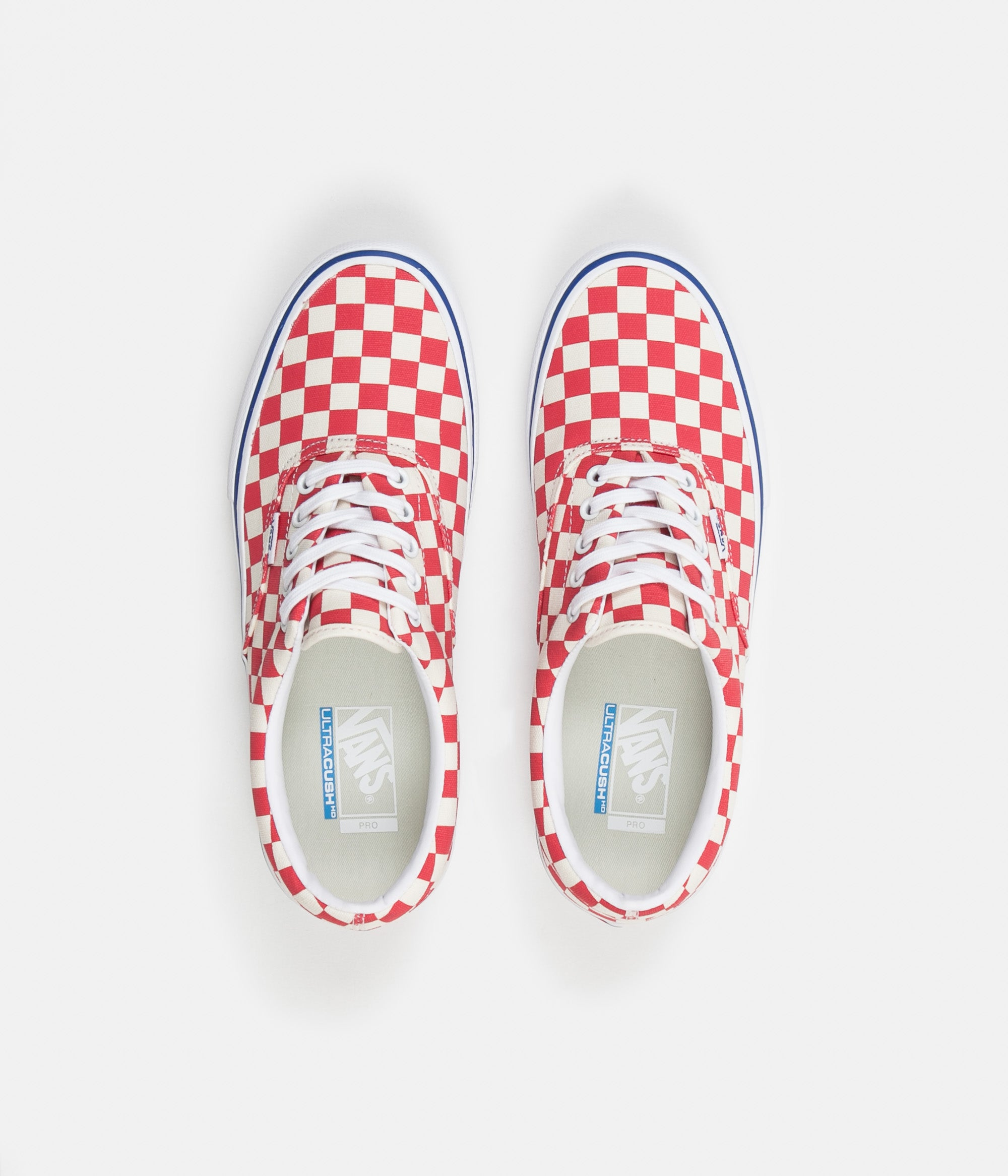 Vans Era Pro Checkerboard Shoes - Rococco Red   Classic White ... 5d8132759