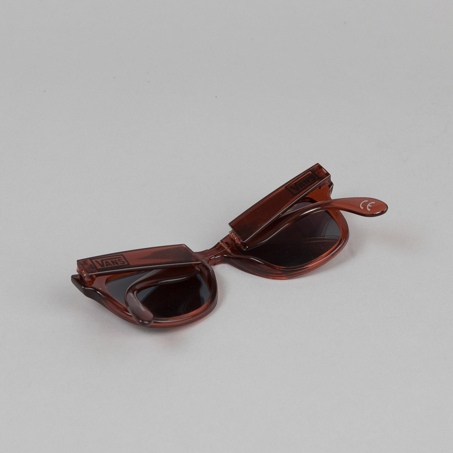 Vans Folding Spicoli Sunglasses - Transparent Maroon
