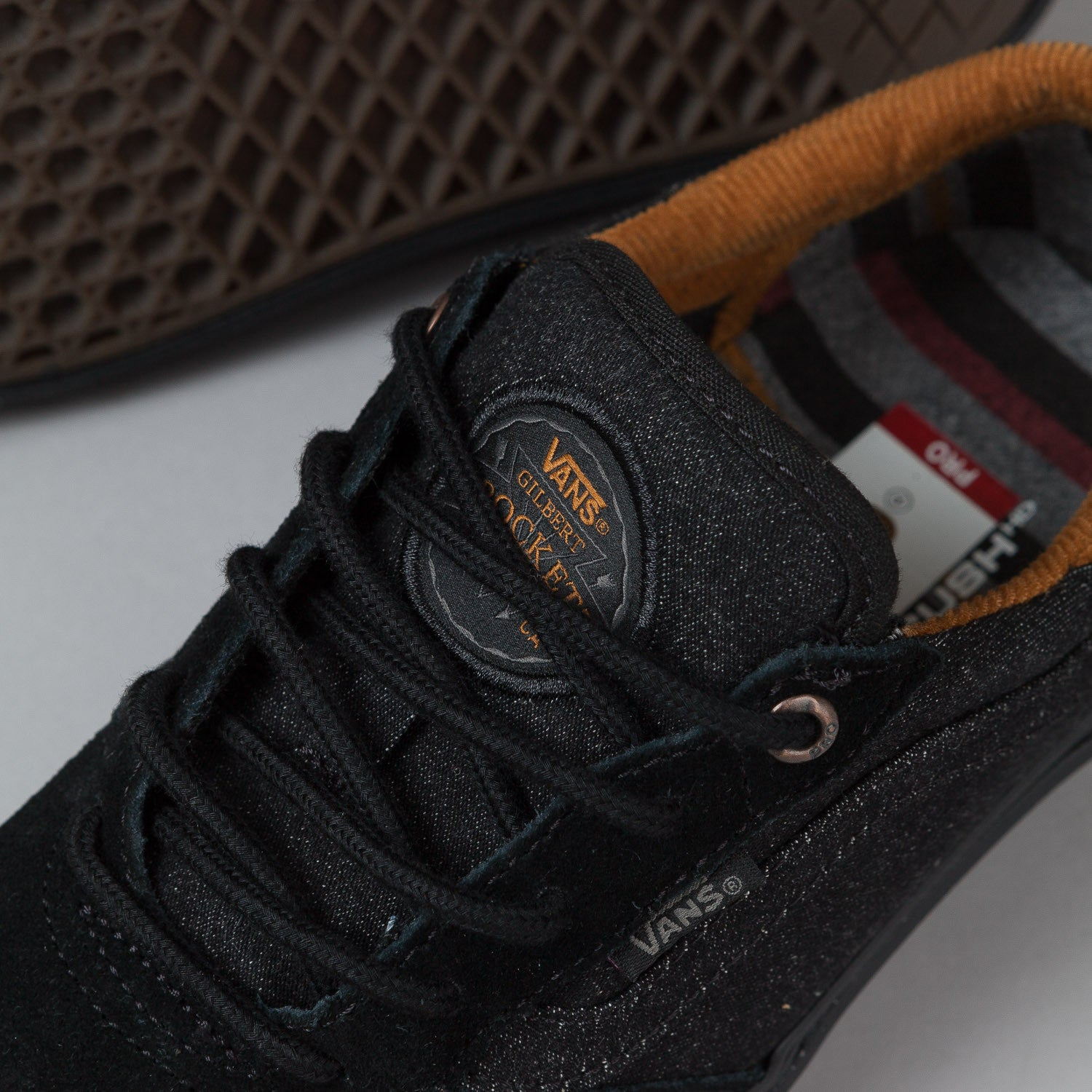 Vans Gilbert Crockett Shoes - Black Denim