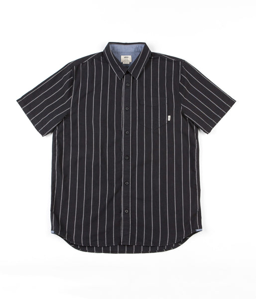 Vans Gilbert Crockett Stripe Shirt - Black / Frost Grey