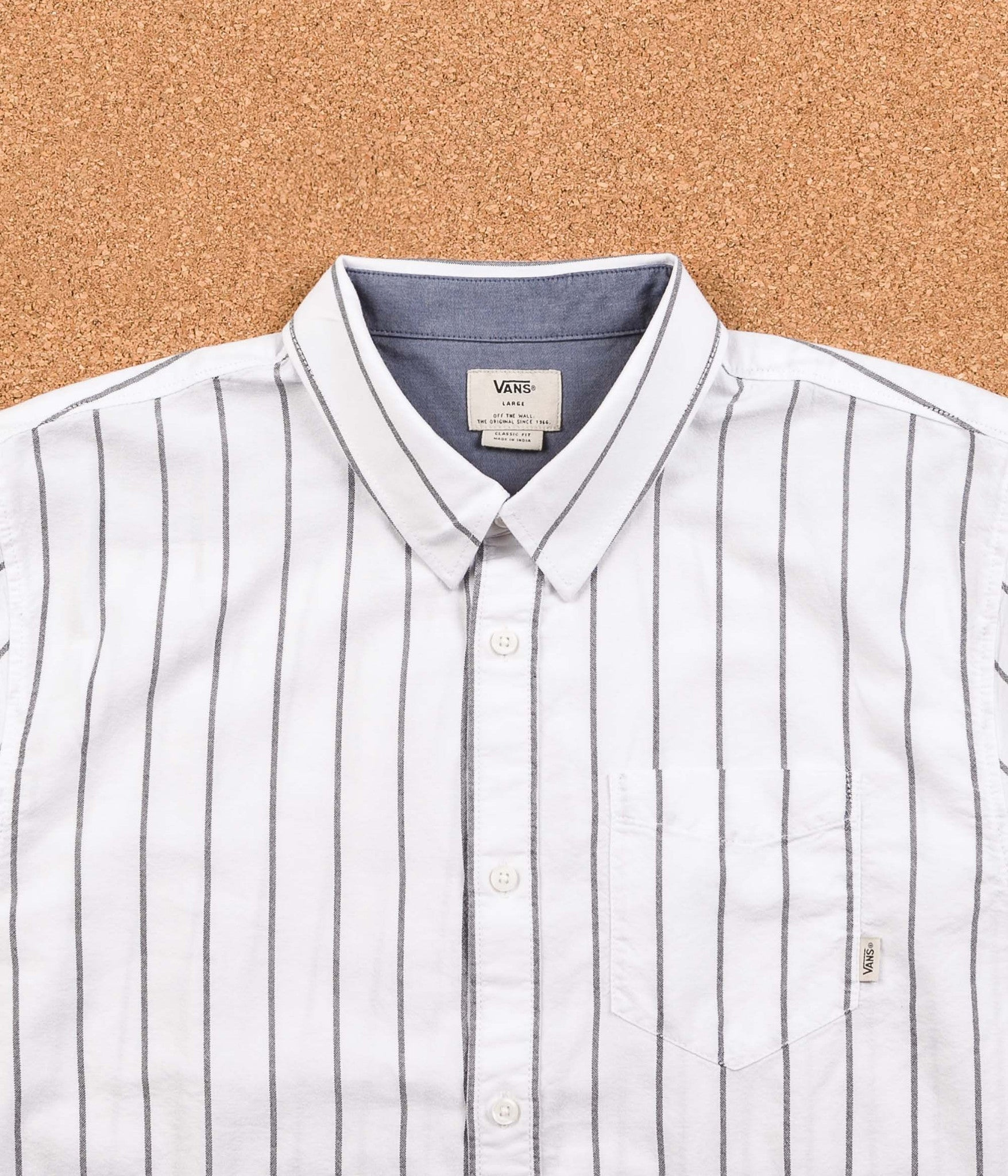 Vans Gilbert Crockett Stripe Shirt - White / Black