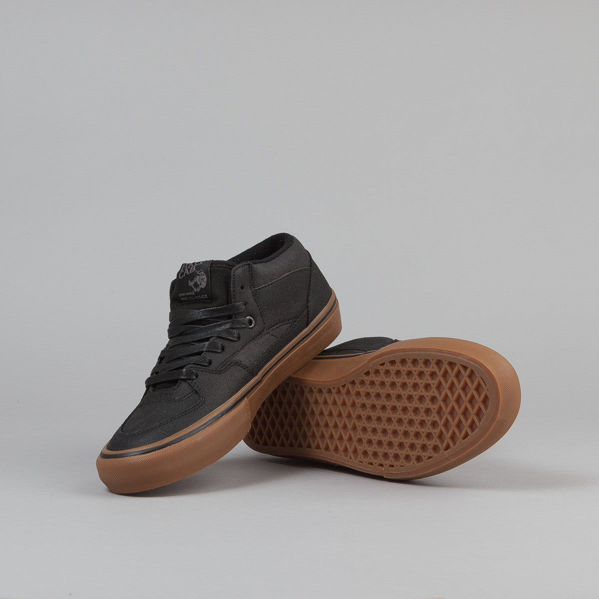 Vans Half Cab Pro Shoes - (Xtuff) Black / Gum