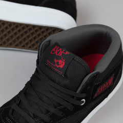 Vans Half Cab Pro Shoes - Black / Red / Charcoal