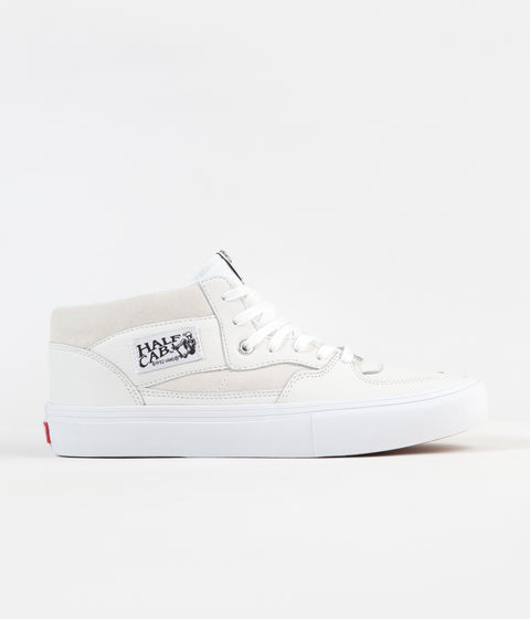 Vans Half Cab Pro Shoes - (Leather) White