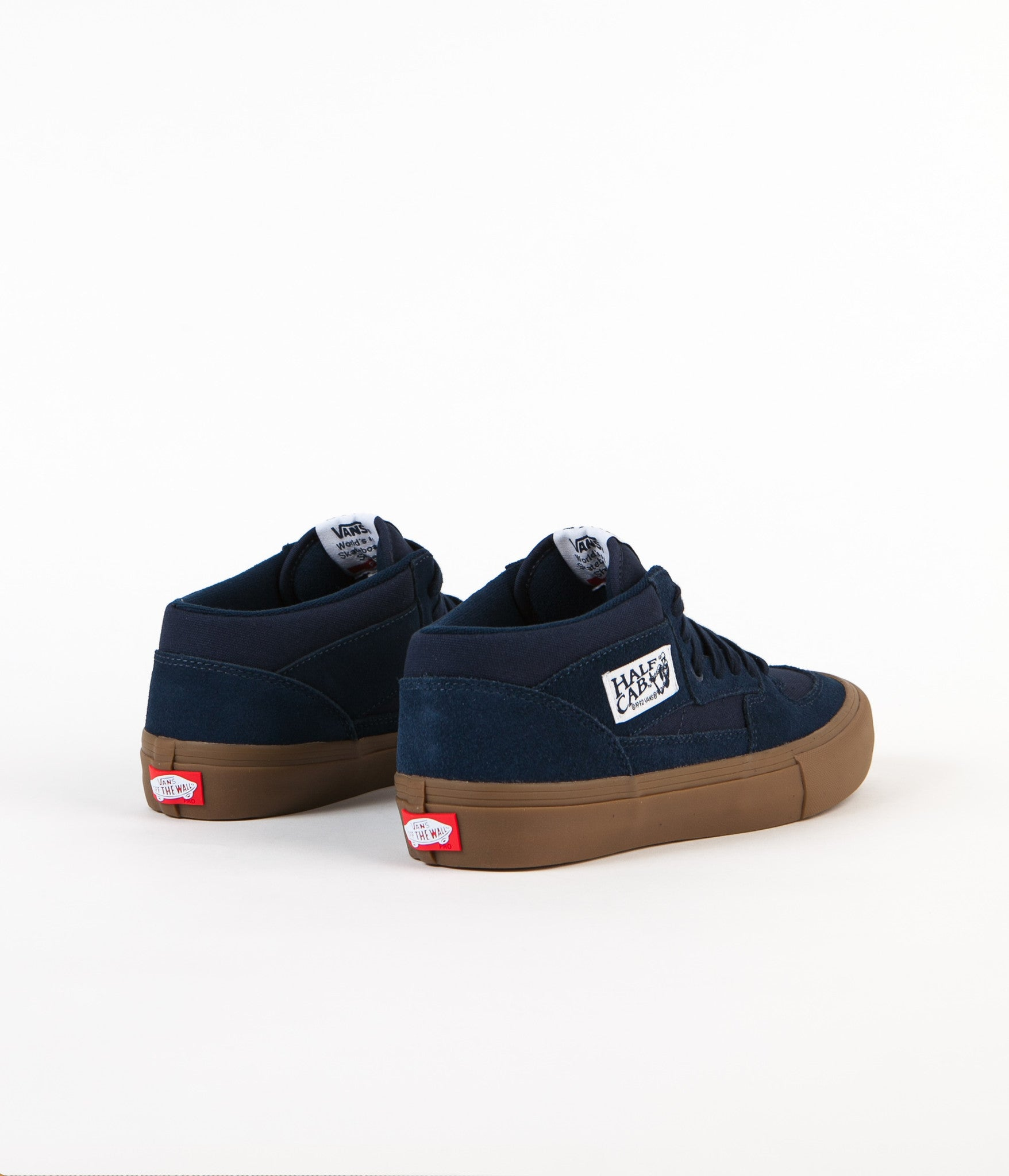 Vans Half Cab Pro Shoes - Navy / Gum