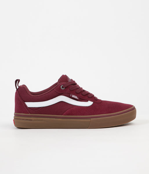 Vans Kyle Walker Pro Shoes - Burgundy / White / Gum