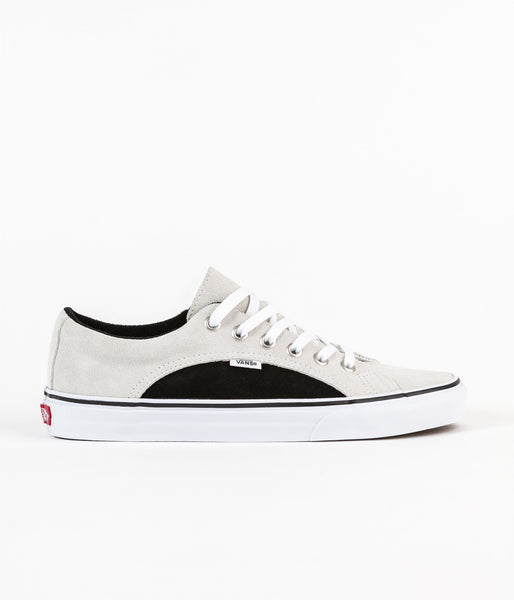 Vans Lampin 2-Tone Suede Shoes - True White / Black