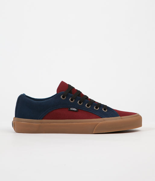 Vans Lampin (Suede Gum) Shoes - Dress Blues / Madder Brown