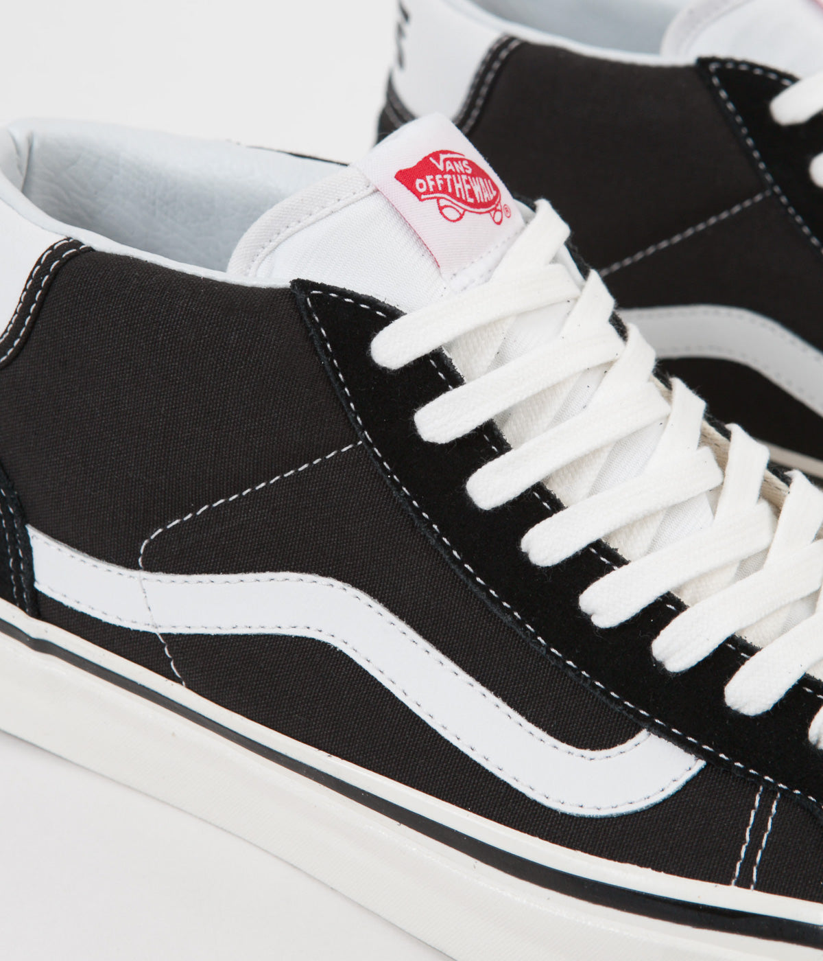 19b53b0a66b6b2 ... Vans Mid Skool 37 DX Anaheim Factory Shoes - Black   White ...