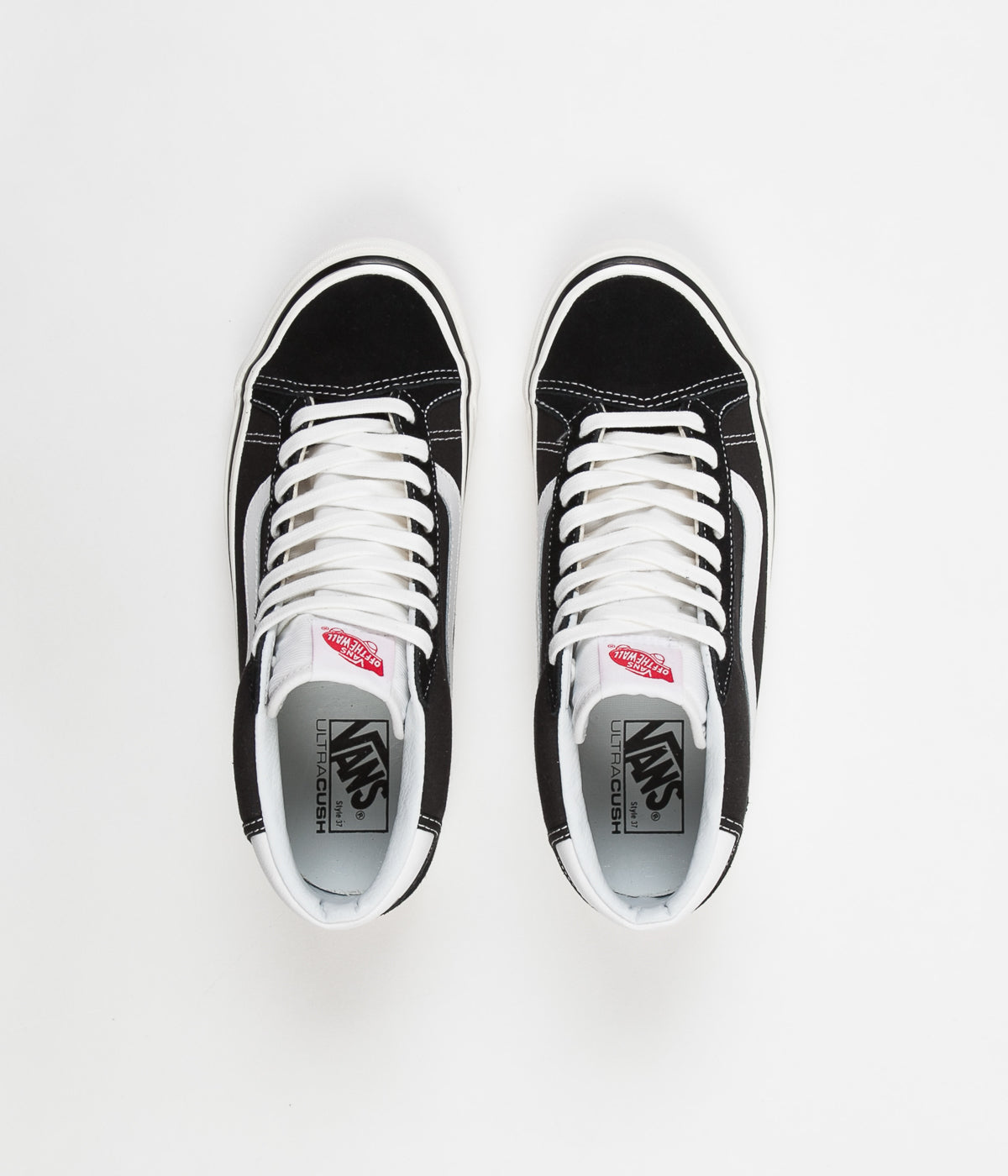 6050469b6ce6e8 Vans Mid Skool 37 DX Anaheim Factory Shoes - Black   White ...
