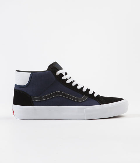 Vans Mid Skool Pro Shoes - (Street Machine) Black / Dress Blues / True White