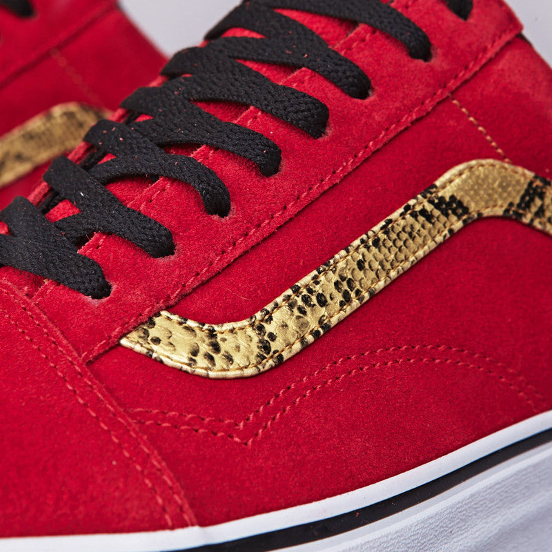 Vans Old Skool (Snake) Red / Gold