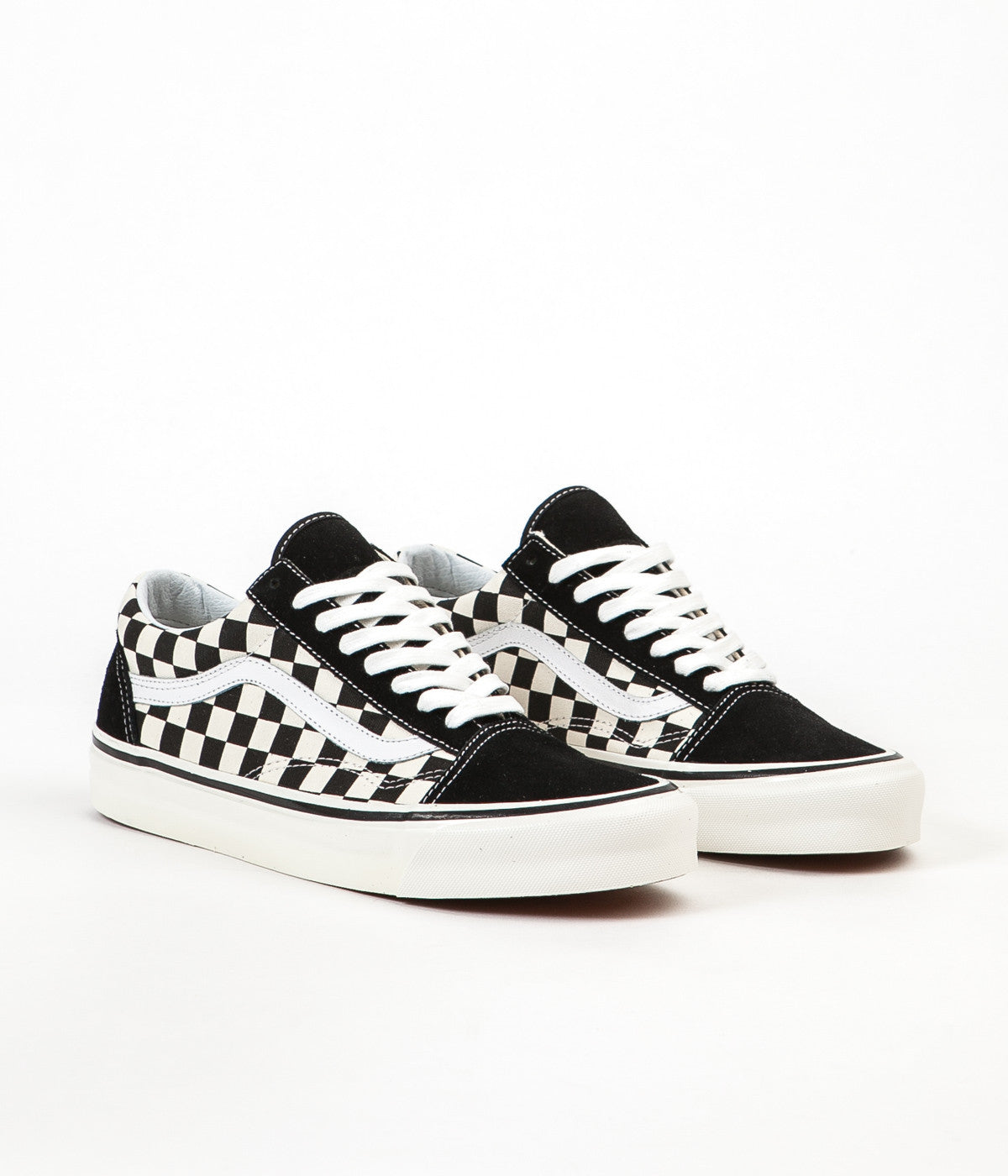 vans old skool 36 dx anaheim factory black checkerboard