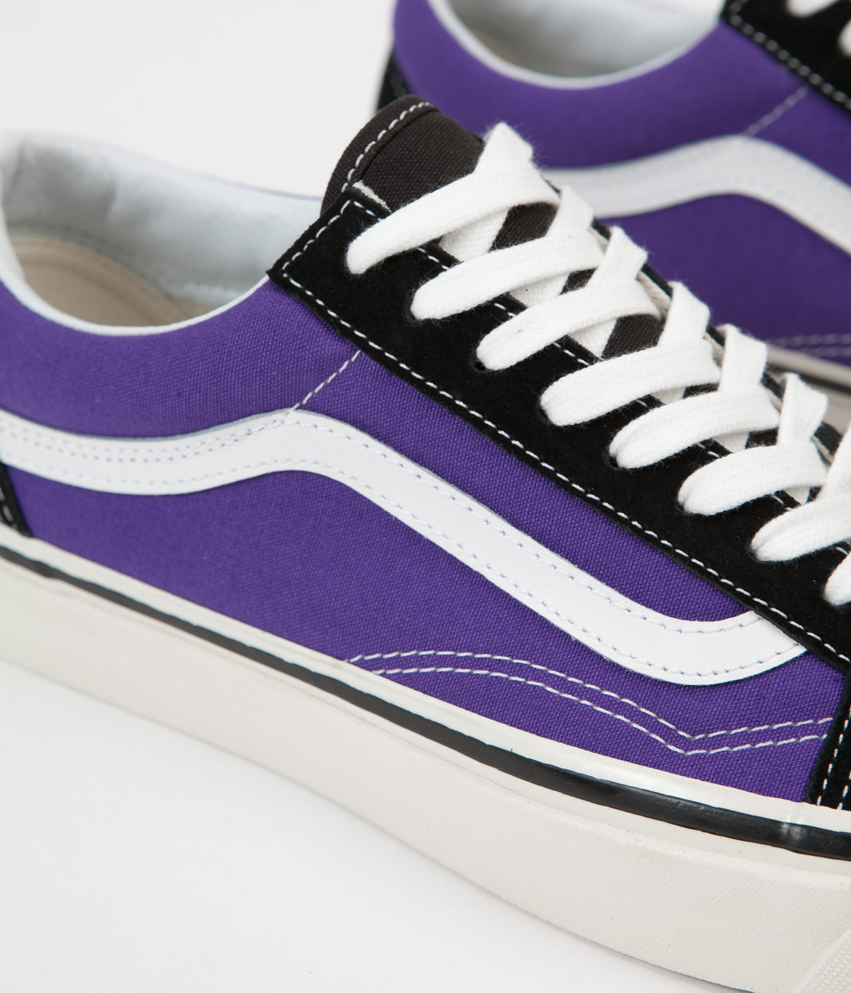 28295873ce ... Vans Old Skool 36 DX Anaheim Factory Shoes - Black   OG Bright Purple  ...