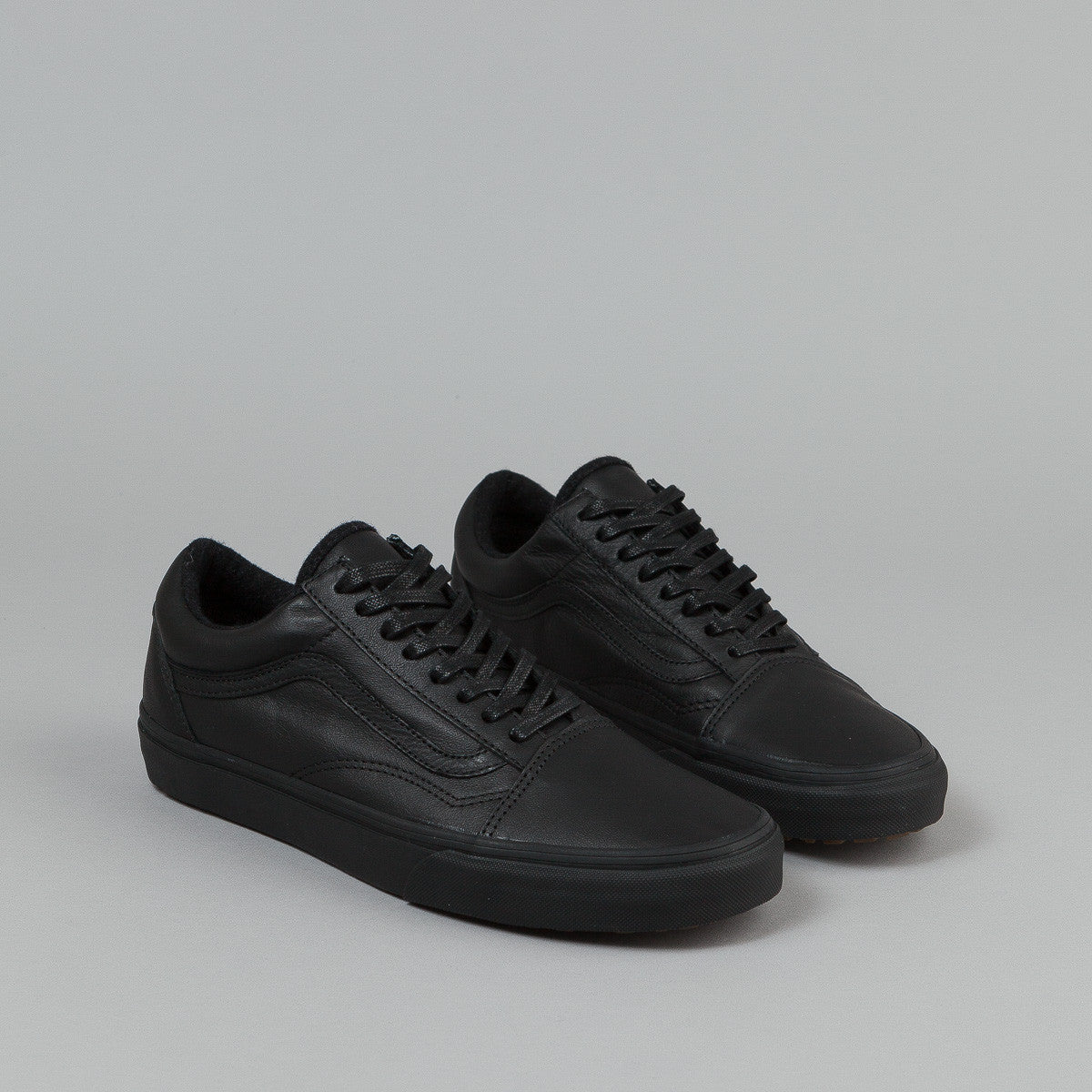 vans old skool mte shoes black leather flatspot. Black Bedroom Furniture Sets. Home Design Ideas