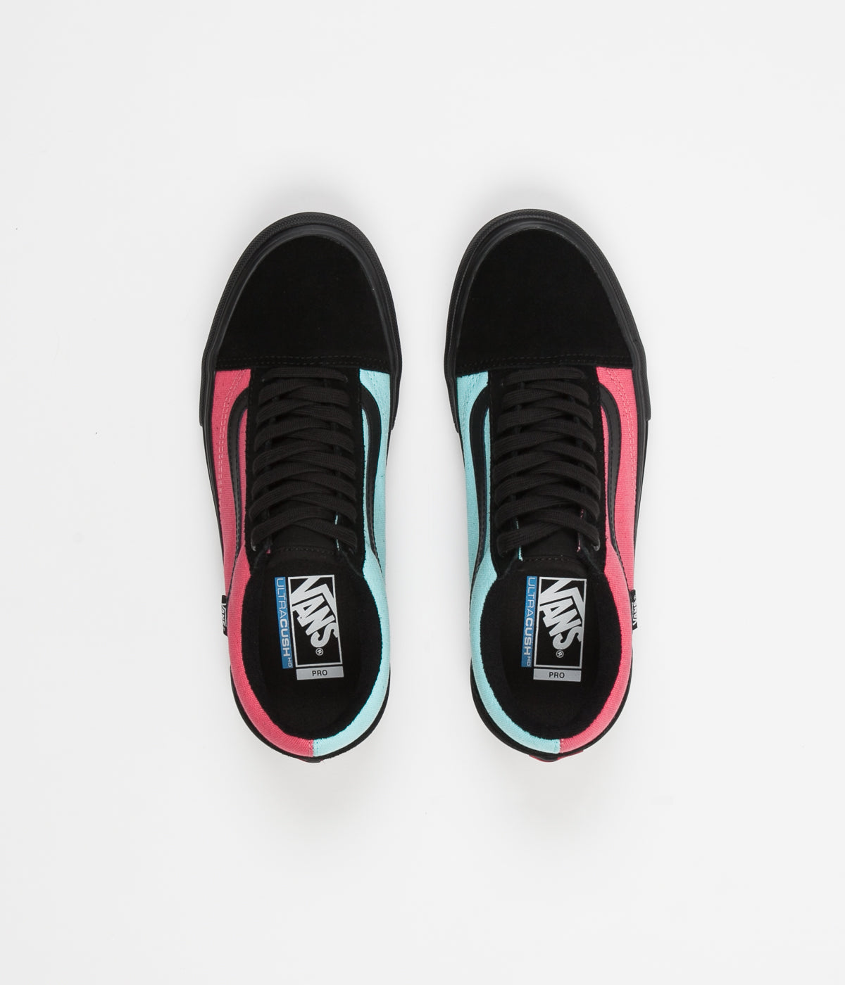 4c7b057929d1 Vans Old Skool Pro Asymmetry Shoes - Black   Rose   Blue ...