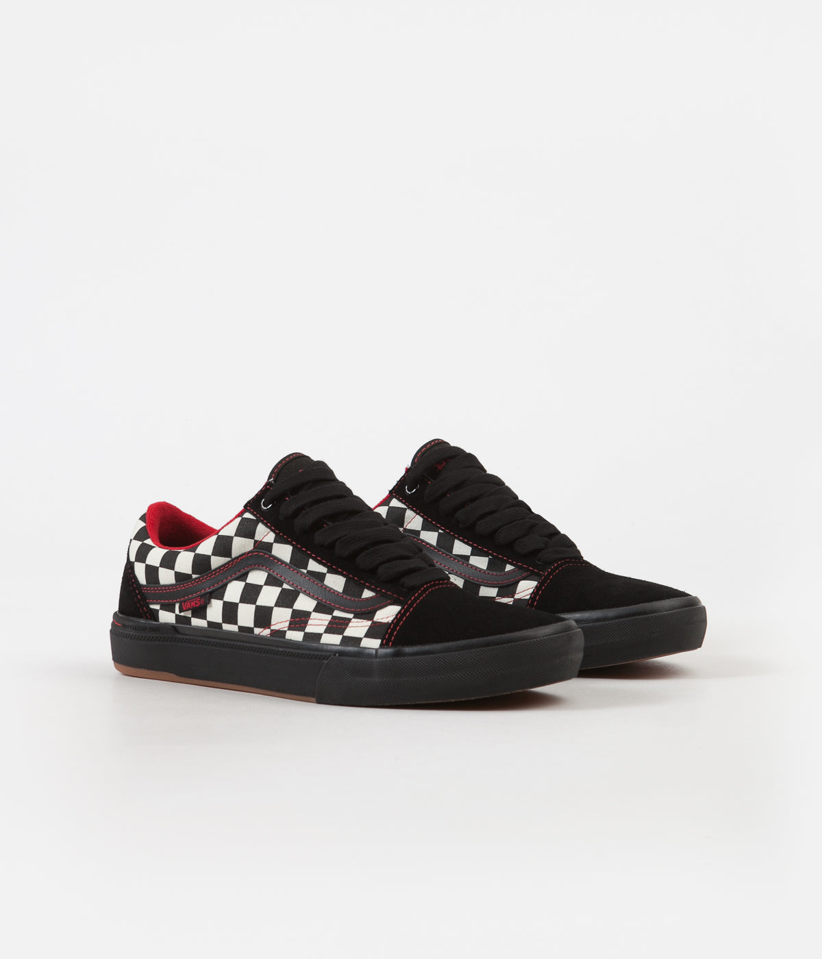 41b213b2393 Vans Old Skool Pro BMX Shoes - (Kevin Peraza) Black   Checkerboard ...