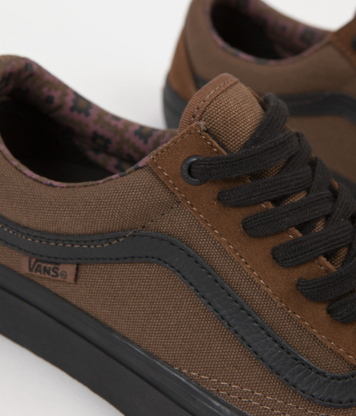 Vans Old Skool Pro (Dakota Roche) Shoes - Teak / Black