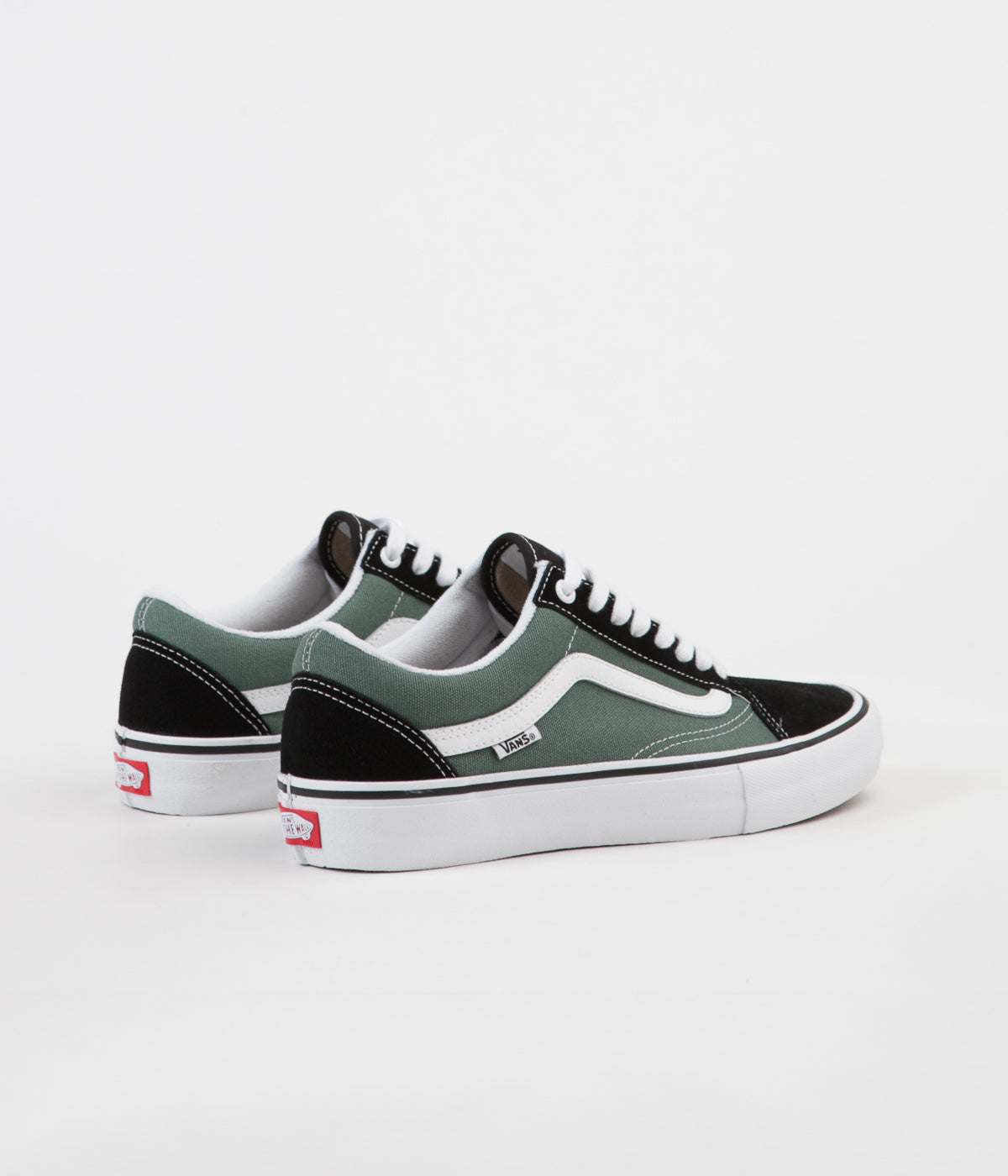 75c0b2eb0b67e3 ... Vans Old Skool Pro Shoes - Black   Duck Green ...
