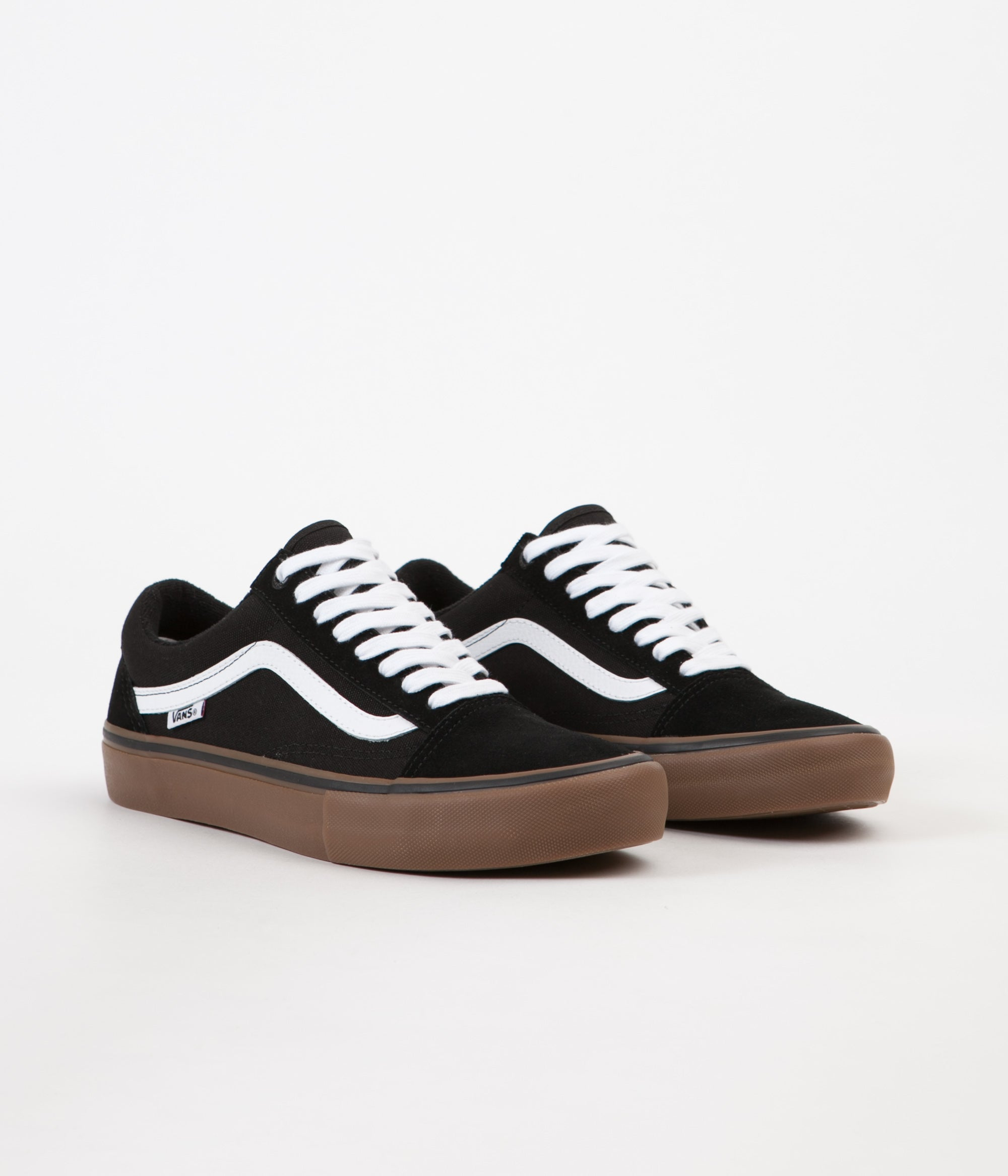 37825cd9f0b ... Vans Old Skool Pro Shoes - Black   White   Medium Gum ...