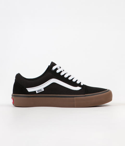 068cc36b9d Vans Old Skool Pro Shoes - Black   White   Medium Gum