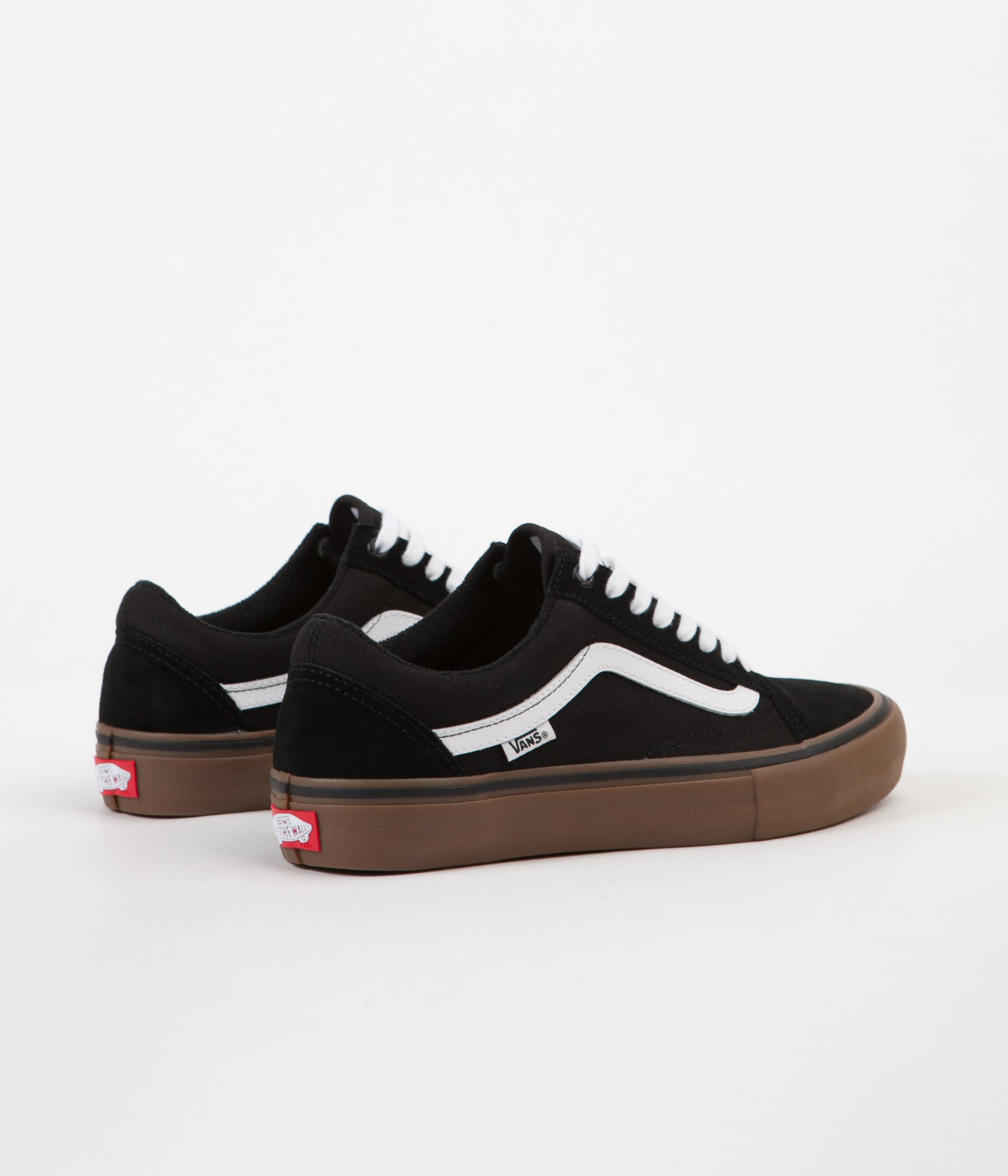 leta efter speical-erbjudande närmare kl Vans Old Skool Pro Shoes - Black / White / Medium Gum | Flatspot