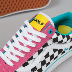 Vans Old Skool Pro Shoes (Golf Wang) - Blue / Pink / White