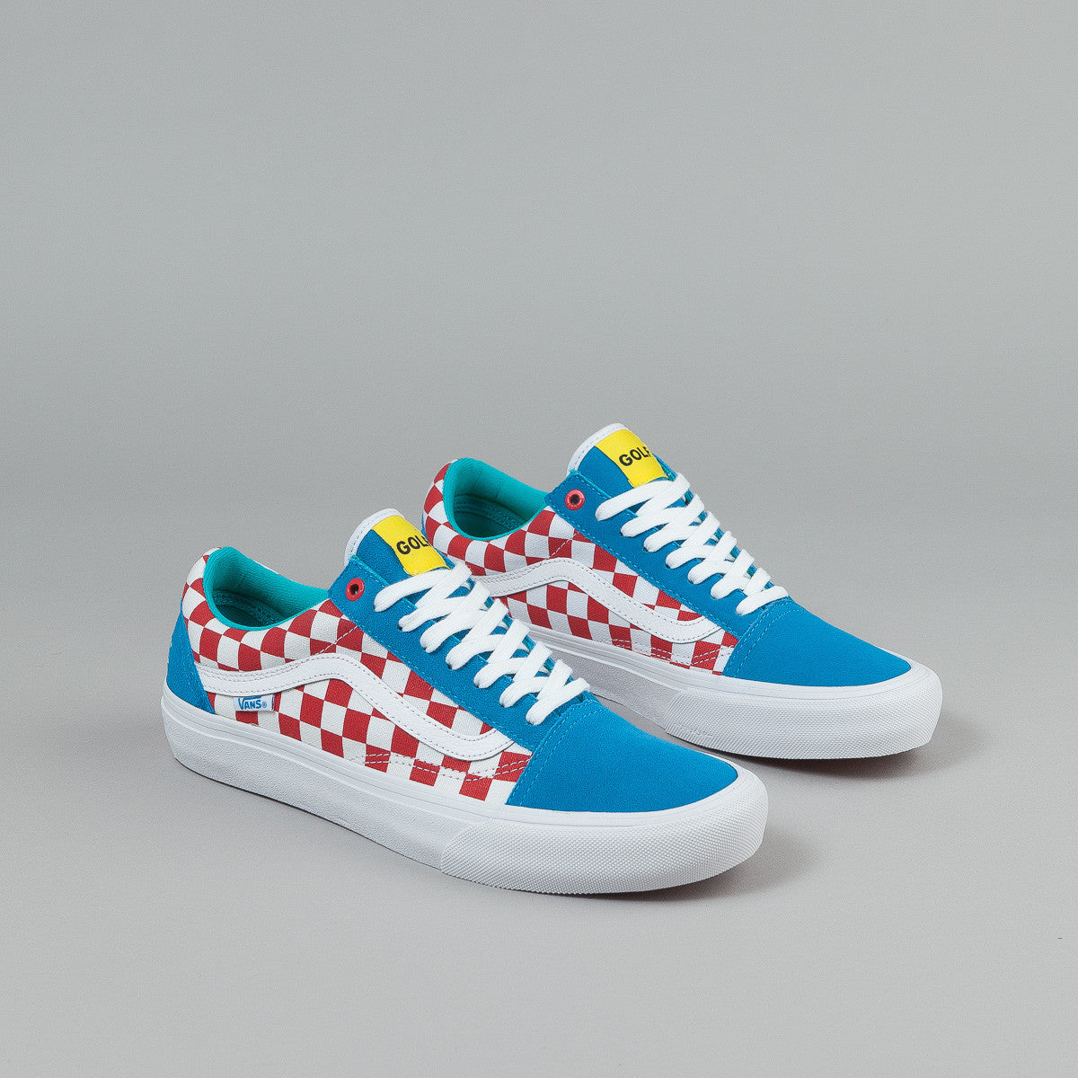vans old skool pro shoes golf wang blue red white. Black Bedroom Furniture Sets. Home Design Ideas