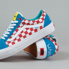 Vans Old Skool Pro Shoes (Golf Wang) - Blue / Red / White