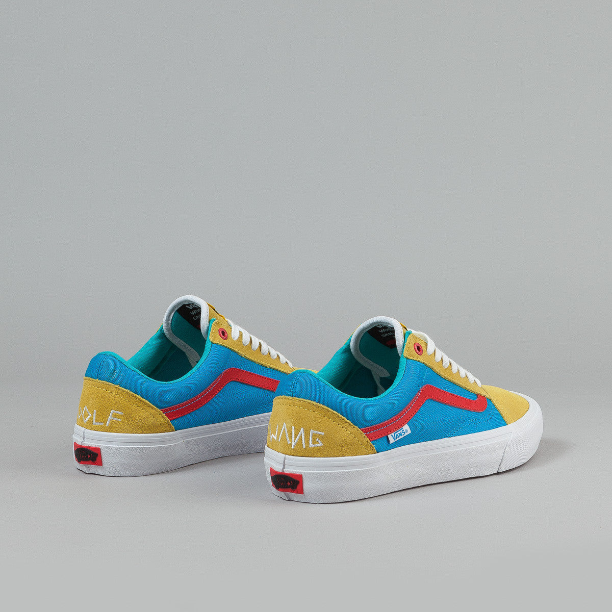 vans old skool pro shoes golf wang yellow blue red. Black Bedroom Furniture Sets. Home Design Ideas