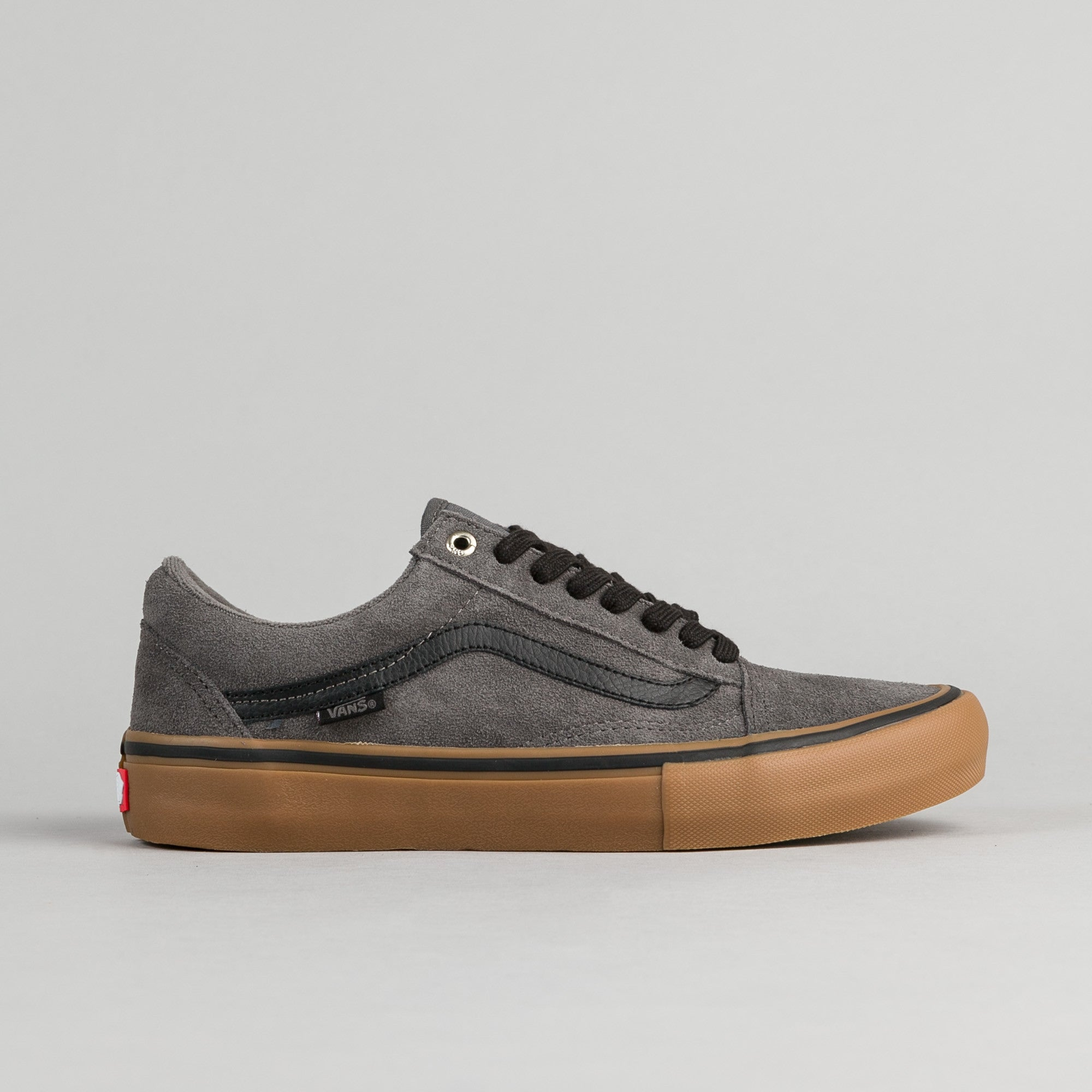 72dd471f2e Vans Old Skool Pro Shoes - Grey   Black   Gum